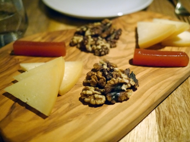 basque sheep's milk cheese with quince and walnuts at bilbao berria london