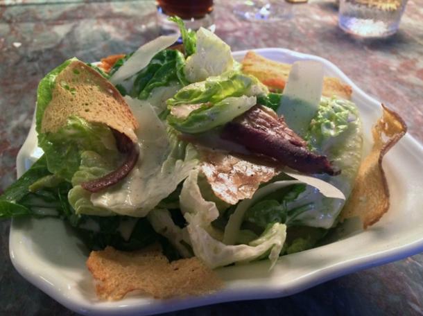 caesar salad at chiltern firehouse