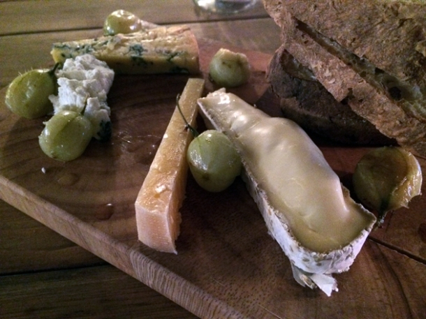 cheese board at heirloom crouch end