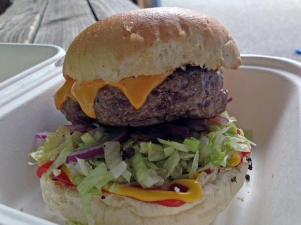 cheeseburger from burger bear