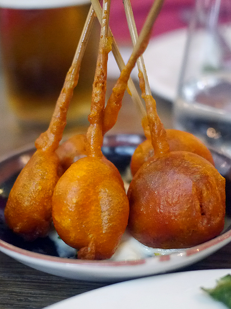 chorizo lollipops at iberica marylebone