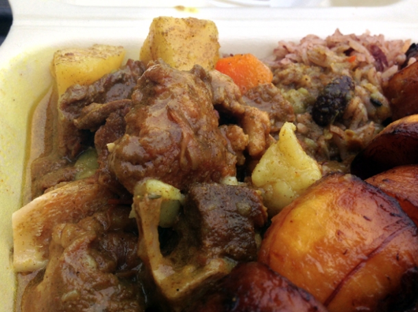 curry goat from island grill