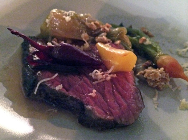 deer with beets and granola at heirloom crouch end