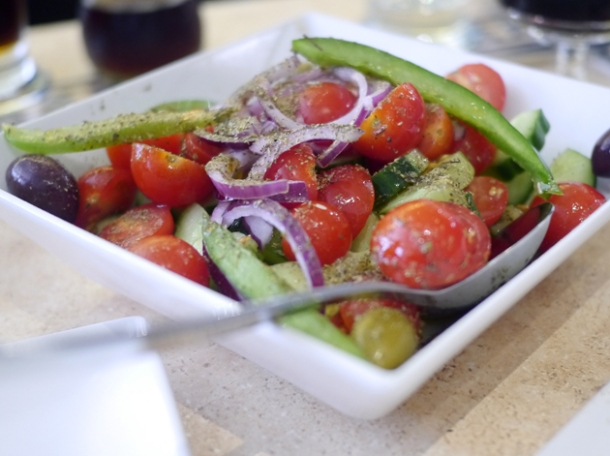 greek salad at 21 bateman street