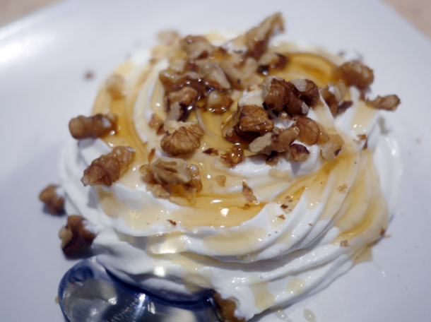 greek yoghurt with walnuts and honey at 21 bateman street