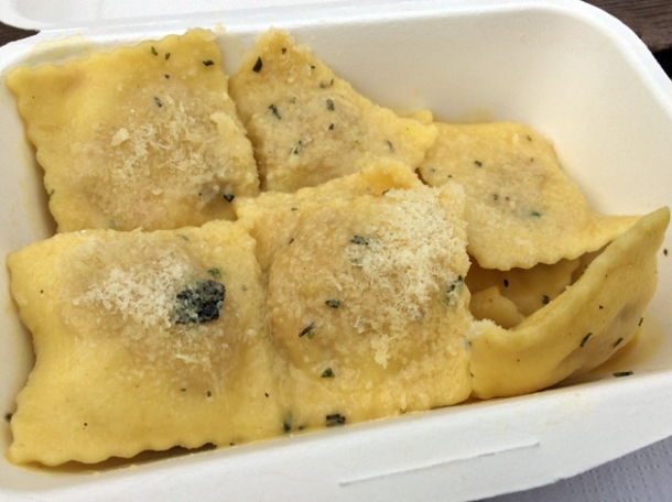 guinea fowl and root vegetable ravioli from pasta e basta