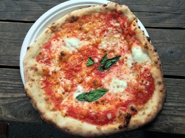 margherita pizza from peel & chimney