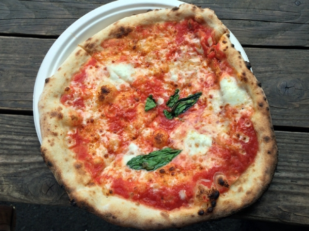 margherita pizza from peel & chimney