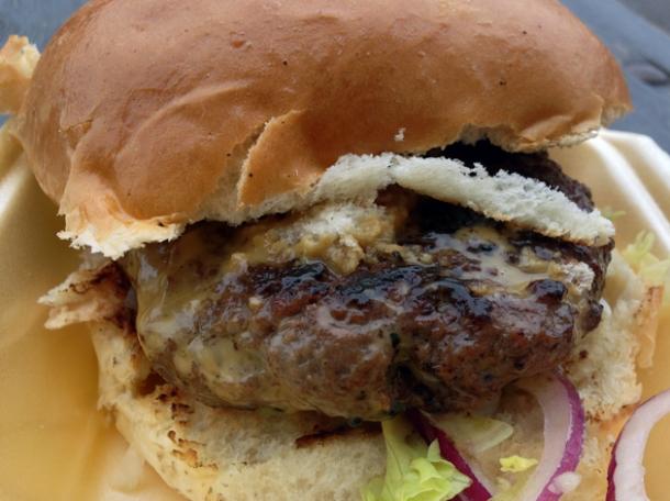 pork burger from galbi bros