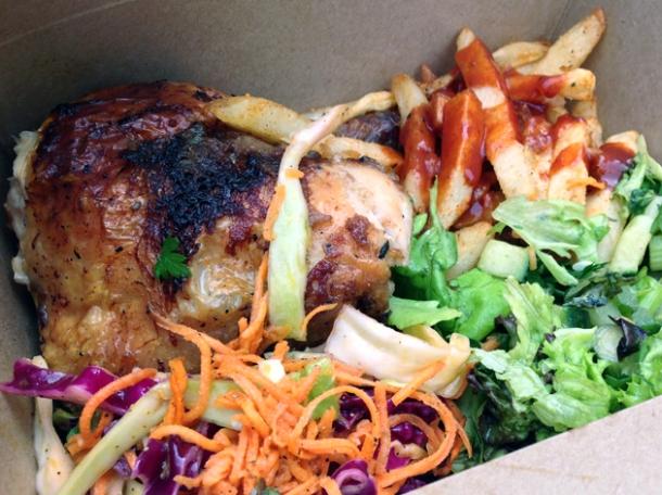 quarter roast chicken from the spinning hen