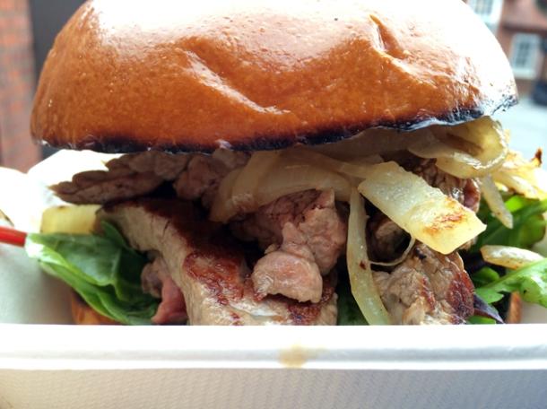 steak sandwich from backstreet diner