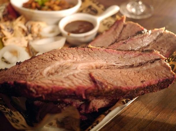 beef brisket at Texas Joe's Shoreditch
