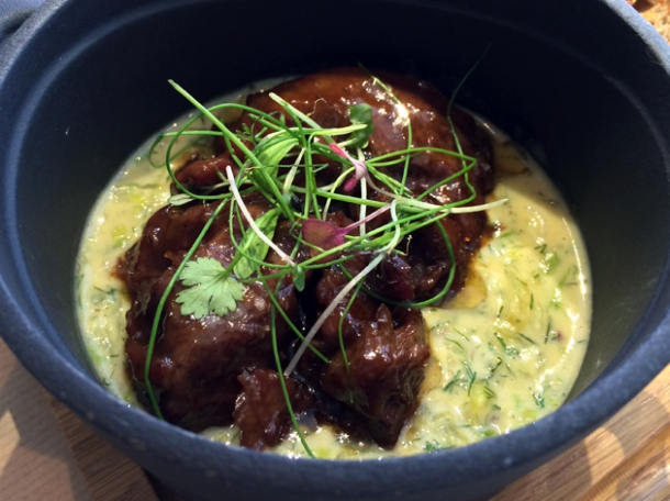 beef cheeks and dill at opso