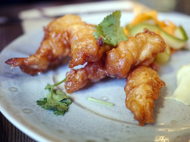 chicken tempura at whyte and brown