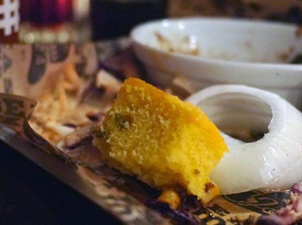 corn bread at texas joe's shoreditch
