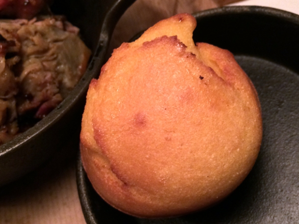 corn bread muffin from big easy covent garden