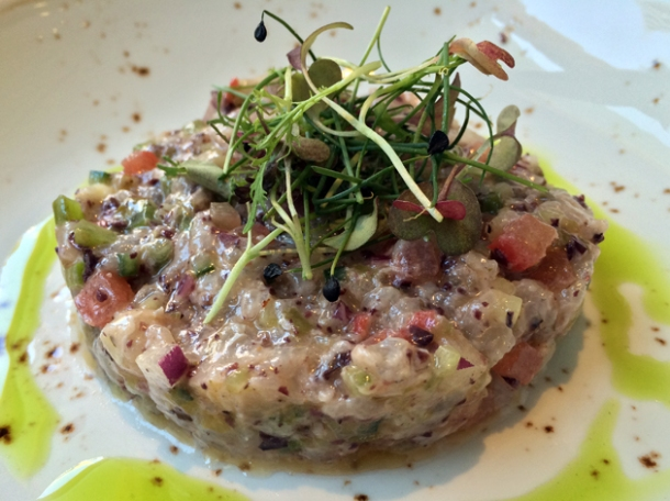 grouper tartare at opso