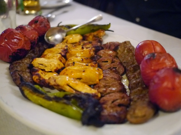 mix grill platter at azerbaijan finchley