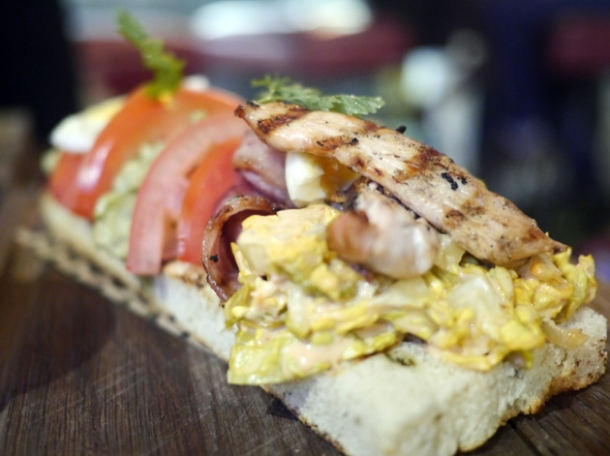 open club sandwich at whyte and brown