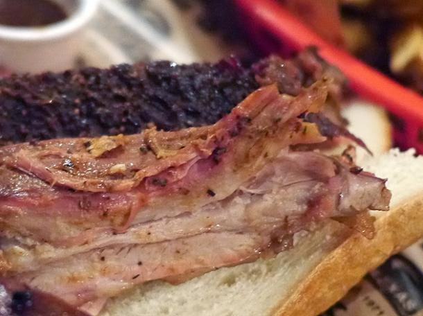 pork spare ribs at texas joe's shoreditch