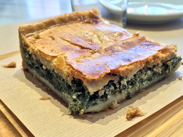 spinach and feta pie at opso