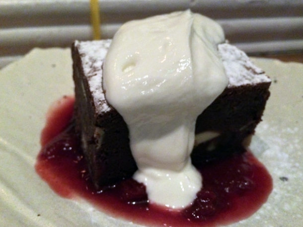 brownie at the tapa room