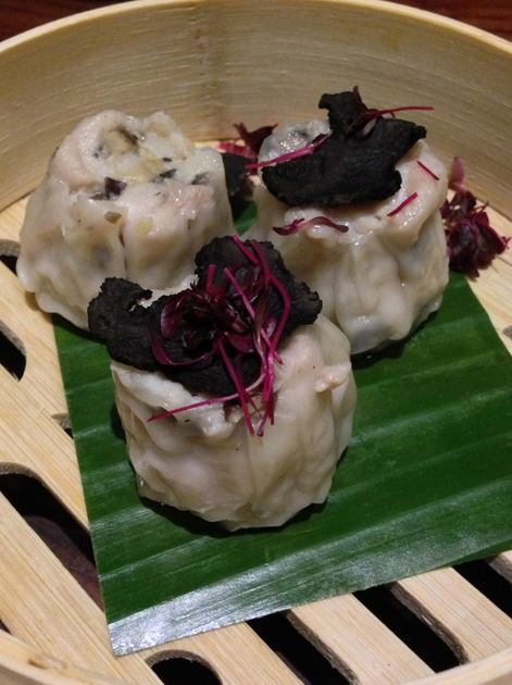 chicken and black truffle siu mai at bo lang
