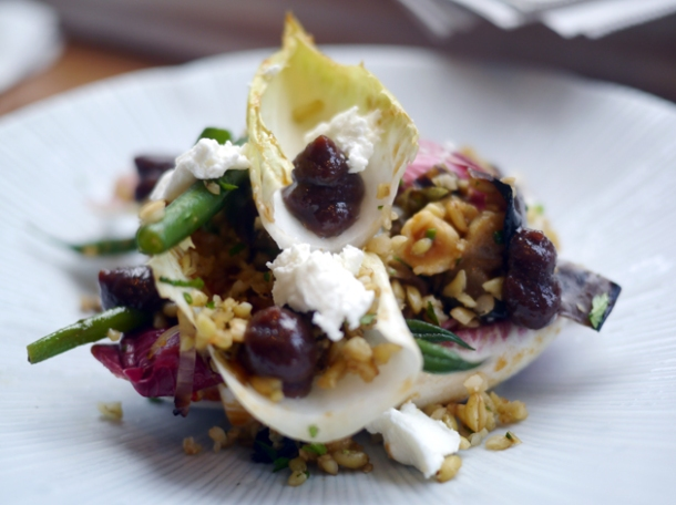 freekeh and goat's cheese salad at the tapa room