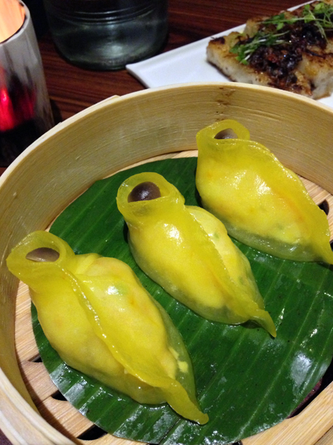 saffron cod dumpling at bo lang