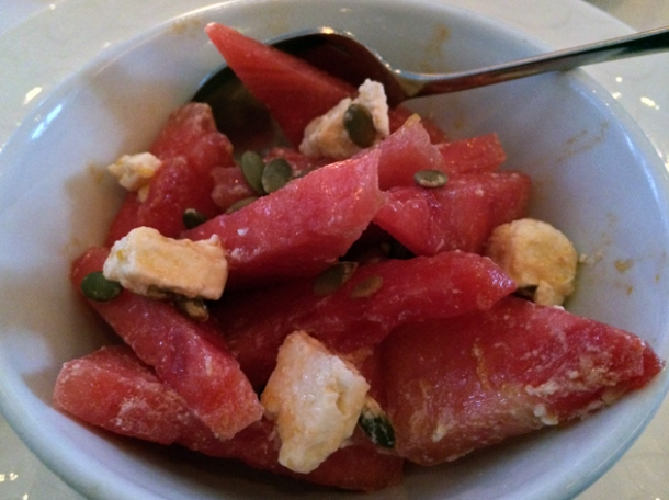 watermelon and feta salad at the providores