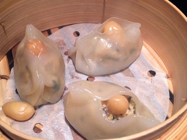 almond and tofu dumplings at dim t