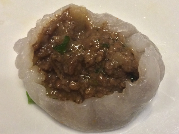 beef dumpling filling at ping pong