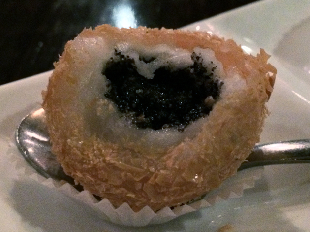 black sesame dumpling filling at firecracker