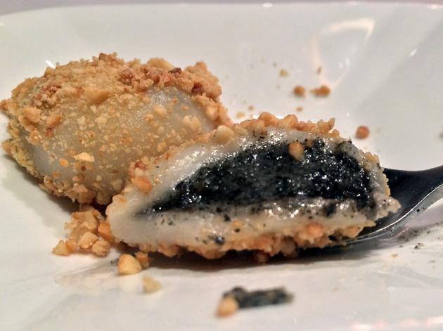 black sesame paste dumpling filling at 17 notting hill