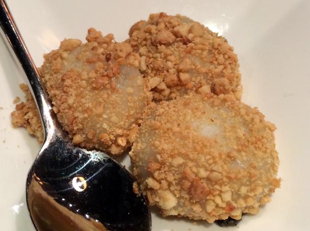 black sesame paste dumplings at 17 notting hill