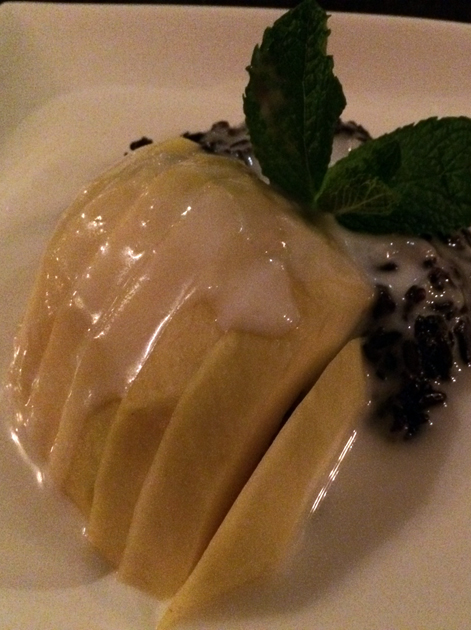 black sticky rice with mango at firecracker