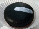 charcoal and chocolate macaron at courtesan