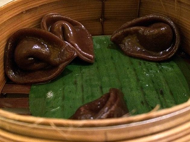 chocolate dumplings at china tang