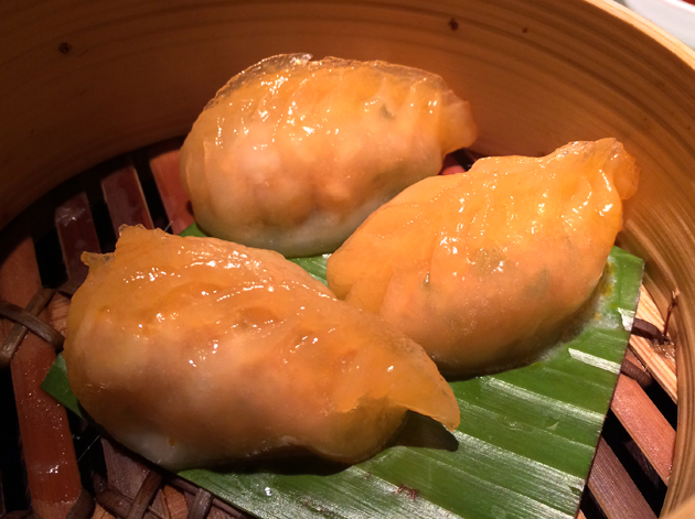curry seafood dumplings at plum valley
