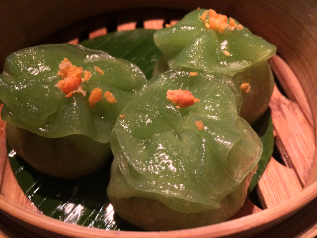 garden dumplings at yauatcha