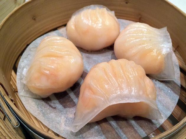 king prawn dumplings at young cheng