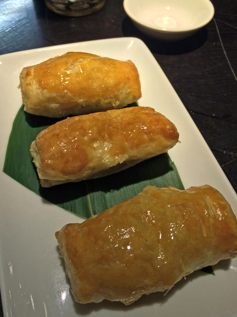 hoi sin vegetable puff at ping pong