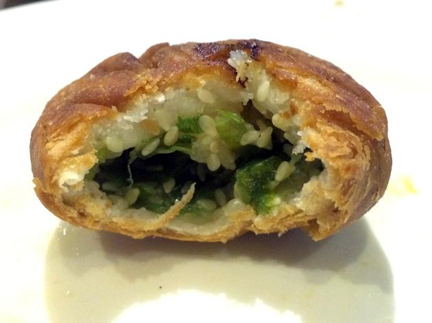 inside mini onion pancake at phoenix palace