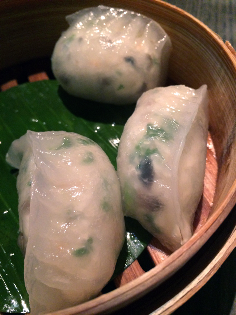 king crab dumplings at yauatcha