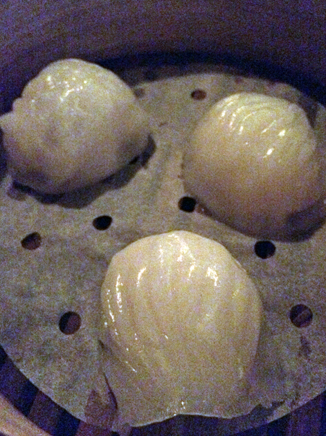 lobster dumplings at opium