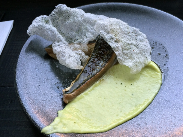 mackerel, whey and avocado at sixty four degrees london