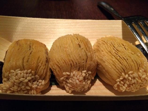 molten chestnut tarts at plum valley