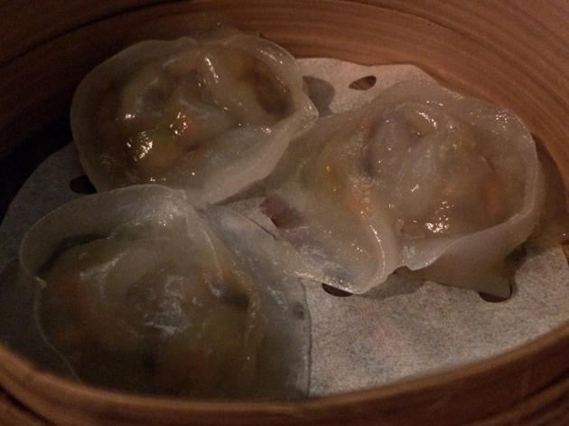 monk vegetable dumplings at courtesan