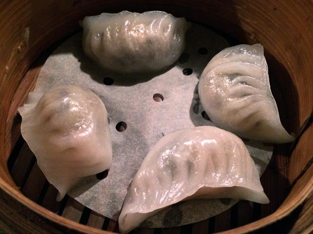 mushroom and truffle dumplings at opium