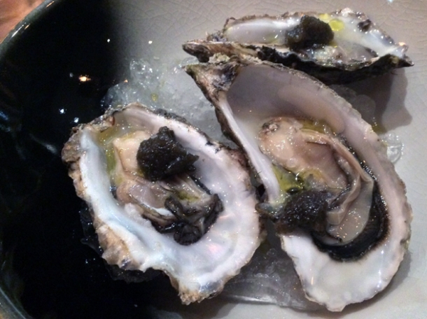 oysters at sixty four degrees london